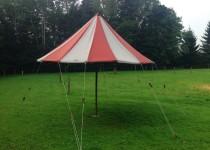 meintent - klassieke parasol, leuk voor bij de stretchtent