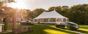 witte tent bruiloft